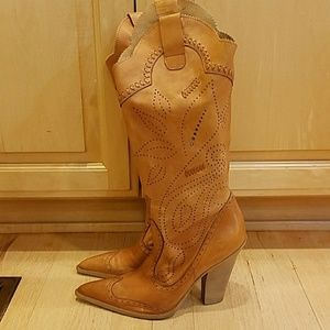 BCBGirls camel colored leather boots